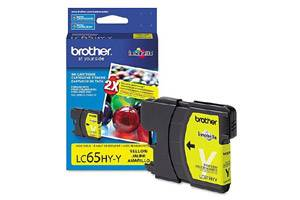 Brother LC65 High Yield Yellow OEM Genuine Ink Cartridge for DCP-6690 MFC-5890 6490 6890