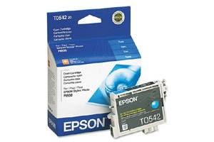 Epson T054220 OEM Genuine Cyan Ink Cartridge for Stylus R800 R1800