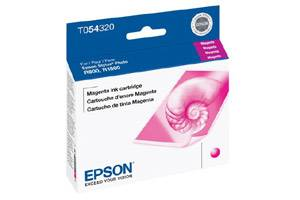 Epson T054320 OEM Genuine Magenta Ink Cartridge for Stylus R800 R1800