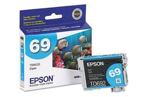 Epson T069220 #69 OEM Genuine Cyan Ink Cartridge for Stylus C120 CX5000 CX6000 CX7000