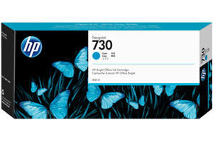 HP 730 P2V68A Cyan OEM Genuine Ink Cartridge for DesignJet T1600 T1700