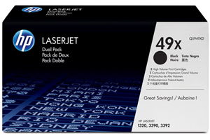 HP 49X Q5949XD 2-Pack Black OEM Genuine Toner Cartridge Laserjet 1320N
