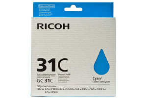 Ricoh 405689 [OEM] Genuine Cyan Ink Cartridge for GXE3300N GXE7700N