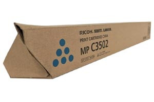 Ricoh 841738 Cyan Original Toner Cartridge Aficio MPC3002 C3502