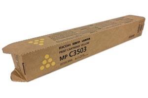 Ricoh 841814 Yellow Original Toner Cartridge MPC3003 MPC3503