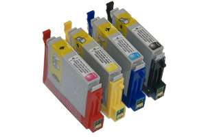 Epson T060 Black & 3-Color Combo Pack Compatible Ink Cartridges