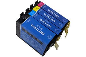 Epson T702XL Black & 3-Color Combo Set Compatible Ink Cartridges
