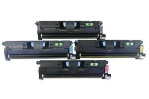 HP Q3960A/61A/62A/63A Black & Color Toner Set for LaserJet 2550 2800