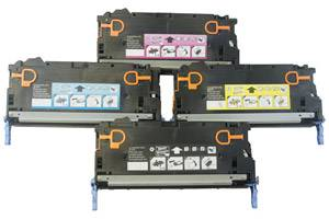 HP Q6470A/Q7581/82/83 Black & Color Toner Set for LaserJet 3800 CP3505