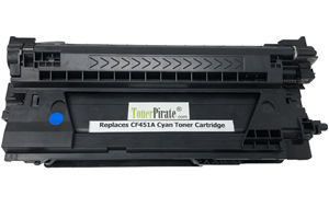 HP CF451A 655A Cyan Compatible Toner Cartridge for M652n M653dn M681