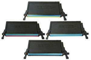 CLP-660 Black & Color Toner Set for Samsung CLP-610 660 CLX-6200 6210