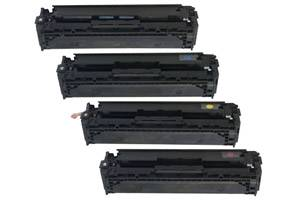 HP CB540A/41A/42A/43A Black & Color Toner Set for LaserJet CP1215