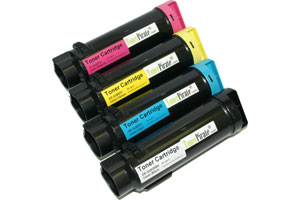 Dell Black & Color High Yield Compatible Toner Set for H625 H825 S2825