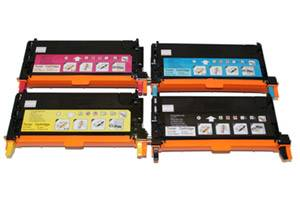 Dell Black & Color High Yield Toner Combo Set for 3130CN Laser Printer