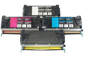 Lexmark Black and Color Toner Combo Set for C522 C524 C530 C532 C534