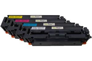 HP 414A Compatible Black & Color Toner Cartridge Set for M454 W/o Chip