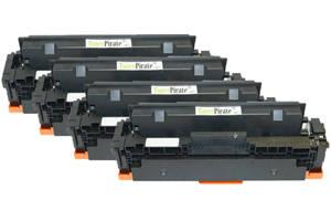 HP 414X Compatible Black & Color Toner Cartridge Set for M454 W/o Chip