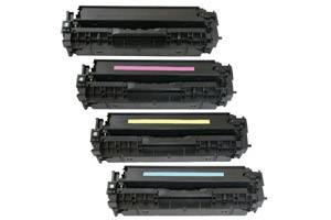 HP 312X Black & 312A Color Compatible Toner Combo Set for M476 printer