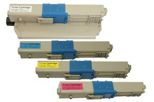 Okidata Black & Color Type C17 Toner Combo Set for C330dn C530dn MC361