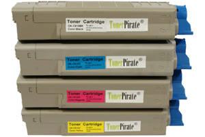 Okidata Black & Color Toner Cartridge Set for C610n C610dn C610cdn