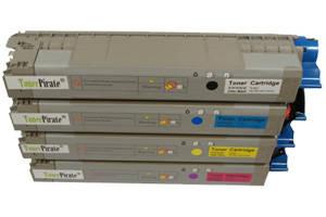 Okidata Black & Color Toner Cartridge Set for C831 MC873