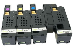 Xerox Black & Color Compatible Toner Cartridge Set Phaser 6010 WC 6015