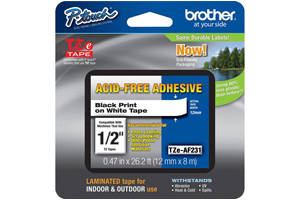 Brother TZE-AF231 1/2 inch Acis Free Tape (12mm x 8m)