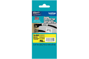 Brother TZE-FX631 1/2 inch Black on Yellow Flexible Tape (12mm x 8m)