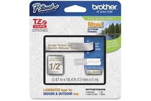 Brother TZE-MQ934 1/2 inch Gold on Satin Tape (12mm x 5m)