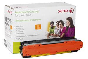 HP CE742A Yellow Replacement Toner Cartridge Color Laserjet Pro CP5225
