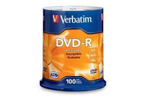 Verbatim 95102 16X 4.7GB DVD-R 100PK Spindle