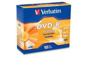 Verbatim 95099 16X 4.7GB DVD-R 10PK Slim Jewel Case
