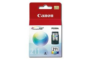 Canon CL-211 OEM Genuine Color Ink Cartridge for PIXMA MP240 MP490