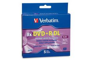 Verbatim 95311 8X 8.5GB DVD+R Dual Layer 5PK Jewel Case