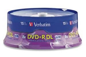 Verbatim 95484 8X 8.5GB DVD+R Dual Layer 15PK Spindle