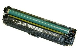 HP CE270A Compatible Black Laser Toner Cartridge for Color Laserjet Pro CP5525 Printer