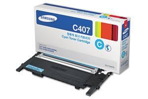 Samsung CLT-C407S [OEM] Genuine Cyan Toner Cartridge CLP-320N CLP-325W CLX-3185FW