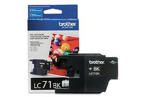Brother LC71BK OEM Genuine Black Ink Cartridge for MFC-J280W J425W J430W J435W J625DW