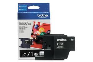 Brother LC71BK OEM Genuine Black Ink Cartridge for MFC-J280W J425W J430W J435W J625DW