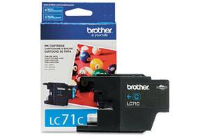Brother LC71C OEM Genuine Cyan Ink Cartridge for MFC-J280W J425W J430W J435W J625DW