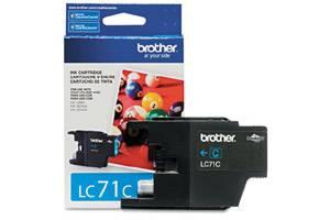 Brother LC71C OEM Genuine Cyan Ink Cartridge for MFC-J280W J425W J430W J435W J625DW