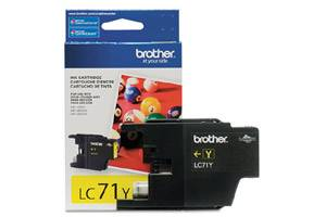 Brother LC71Y OEM Genuine Yellow Ink Cartridge for MFC-J280W J425W J430W J435W J625DW