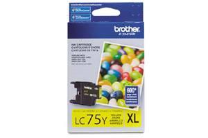 Brother LC75Y OEM Genuine Yellow Ink Cartridge for MFC-J280W J425W J6510DW J6910DW