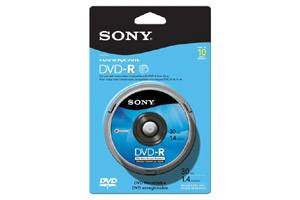 Sony 10DMR30RS1H 1.4GB DVD-R Mini 10PK Spindle