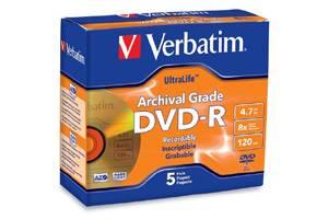 Verbatim 96320 4.7GB DVD-R 5PK Ultralife Jewel Case