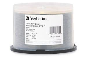 Verbatim 95355 4.7GB DVD-R 50PK Ultralife Spindle