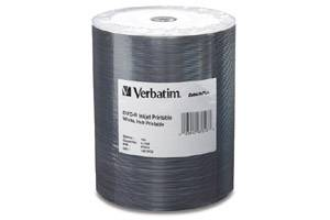 Verbatim 97016 4.7GB White Inkjet Hub Printable DataLife Plus DVD-R 100PK Bulk Pack
