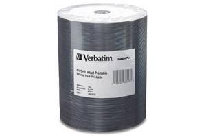 Verbatim 97016 4.7GB White Inkjet Hub Printable DataLife Plus DVD-R 100PK Bulk Pack