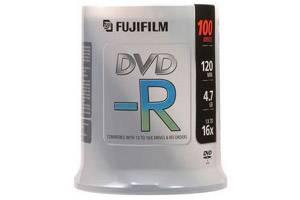 Fuji 15654636 4.7GB White Inkjet Hub Printable DVD-R 100PK Spindle