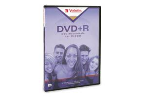 Verbatim 94301 4.7GB DVD+R 1PK with Tall DVD Video Box